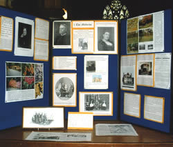The Mitford Family display at the Westgate Heritage Centre